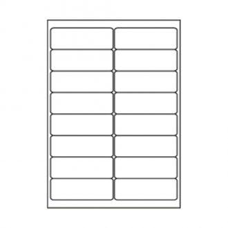 Sorex Αυτοκόλλητες ετικέτες εκτύπωσης A4 99.1x34 (2x8) 100 Φύλλων