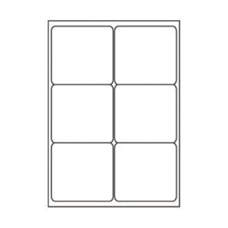 Sorex Αυτοκόλλητες ετικέτες εκτύπωσης A4 99.1x93.1 (2x3) 100 Φύλλων
