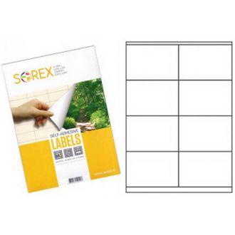 Sorex Αυτοκόλλητες ετικέτες εκτύπωσης A4 105x70 100 Φύλλων