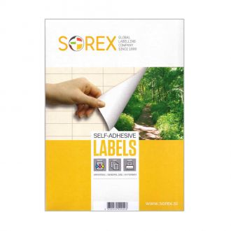 Sorex Αυτοκόλλητες ετικέτες εκτύπωσης A4 105x74 (2x4) 100 Φύλλων
