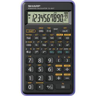 Sharp Επιστημονική αριθμομηχανή 10 ψηφίων 146 λειτουργίες Βιολετί EL-501-T-VL