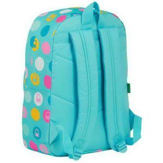 "Benetton Τσάντα Laptop 15.6"" Τιρκουάζ (612051754)"
