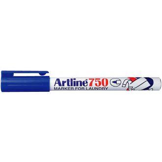 Artline 750 Μαρκαδόρος υφάσματος - πλυντηρίου 0.7mm Μπλέ