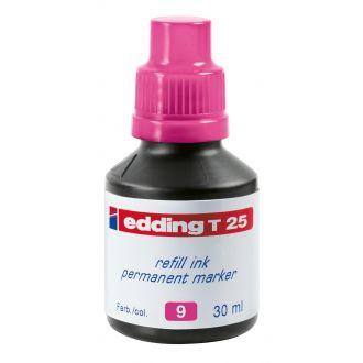 edding Τ-25 Ανεξίτηλο μελάνι 30ml Ρόζ