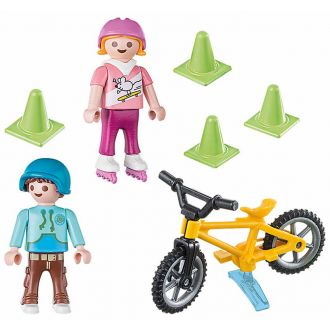 Playmobil 70061 Special Plus - Παιδάκια με πατίνια και ποδήλατο bmx