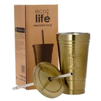 Ecolife coffee thermos cup 480ml Bronze 33-BO-4008