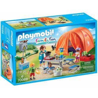 Playmobil 70089 Οικογενειακή σκηνή camping