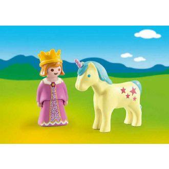 Playmobil 1 2 3 70127 Πριγκίπισσα με μονόκερο
