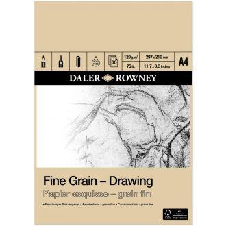 Daler Rowney Fine Grain - Drawing pad A4 120gr 30 Φύλλων  (437035400)