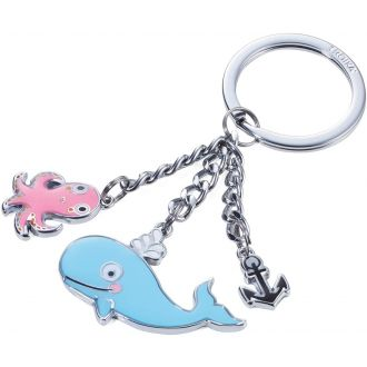 Troika Μπρελόκ Whale and Octopus KR18-13/CH