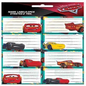 GIM ετικέτες τετραδίου 16pcs Cars 772-16846