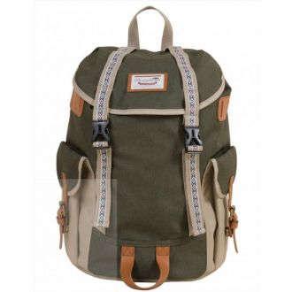 Doughnut Τσάντα πλάτης Woodland Small BO-HE Army x Beige (90767)