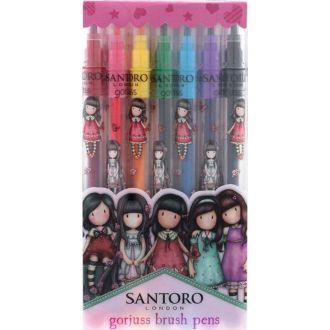 Santoro Gorjuss Melodies Cityscape Brush Marker set 7pcs.  804GJ01