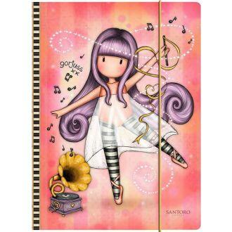 Santoro Gorjuss Melodies A4 Folder with Elastic Closure - Little Dancer 812GJ10