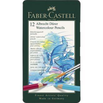 Faber Castell Μεταλλική κασετίνα με ξυλομπογιές Polychromos 12 χρώματα (117512)