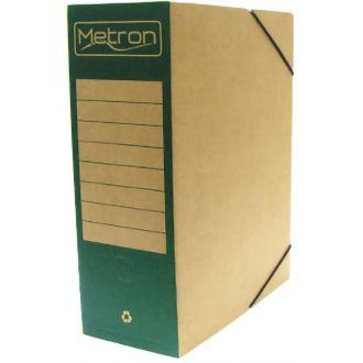 Metron Κουτί αρχείου με λάστιχο οικολογικό ράχη 12cm Πράσινο