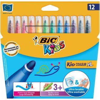 BIC μαρκαδόροι ζωγραφικής Kid Couleur XL 12 χρώματα 8289662