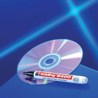 edding 8400 Μαρκαδόρος CD/DVD/BD 0.5-1mm Μπλέ (01.8400/3)