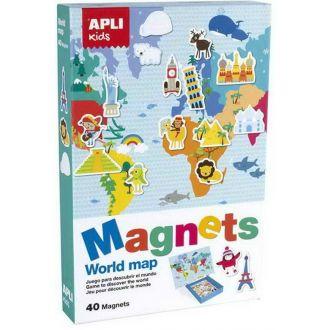 APLI Kids Μαγνητικό puzzle Παγκόσμιος χάρτης 40κομμάτια