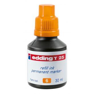 edding Τ-25 Ανεξίτηλο μελάνι 30ml Πορτοκαλί