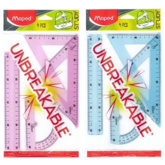 Maped Set Γεωμετρικών οργάνων Unbreakable 20cm 4 τμχ 981703