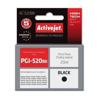 ActiveJet Μελάνι Canon PGI-520BK 20ml Black (AC-520BR)