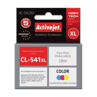 ActiveJet Μελάνι Canon CL-541XL 18ml Tricolor (AC-541RX)