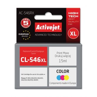 ActiveJet Μελάνι Canon CL-546XL 15ml Tricolor (AC-546RX)