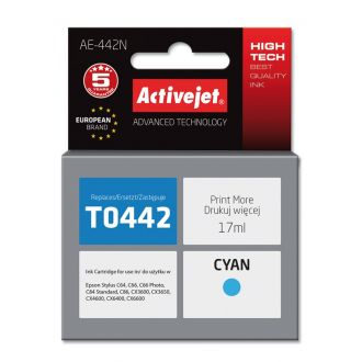 ActiveJet Μελάνι Epson T0442 17ml Cyan (AE-442N)