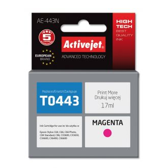 ActiveJet Μελάνι Epson T0443 17ml Magenta (AE-443N)