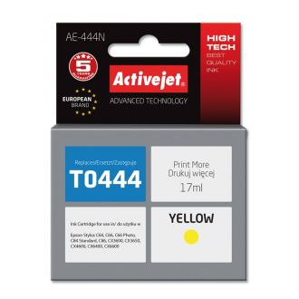 ActiveJet Μελάνι Epson T0444 17ml Yellow (AE-444N)