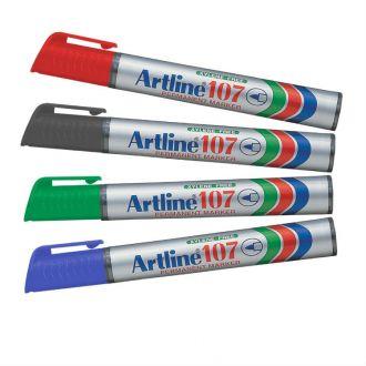 Artline 107 Μαρκαδόρος ανεξίτηλος 1.5mm Κόκκινο