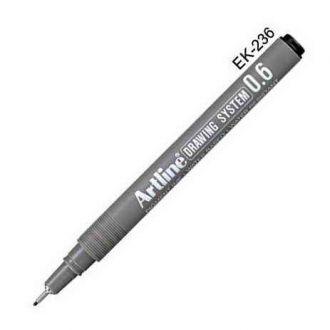 Artline Μαρκαδόρος σχεδίου 0.6mm Μαύρο (EK-236)