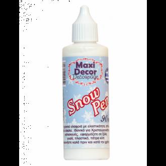 Maxi Decor Decoupage Εφέ χιονιού Snow pen 90ml