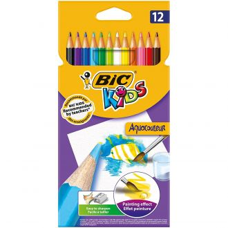 BIC Ξυλομπογιές Ακουαρέλας Aquacolor 12 Χρώματα 8575613