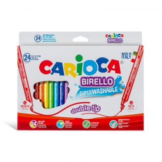 Carioca Μαρκαδόροι Birello Superwashable με διπλή μύτη 24 χρώματα 41521