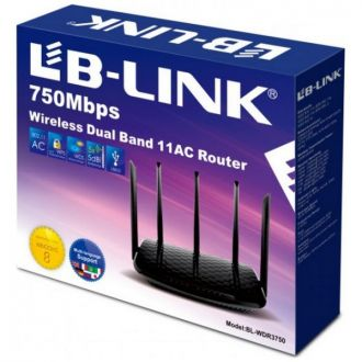 LB-Link Wireless Router Dual Band 750Mbps MTK47186 Chipset
