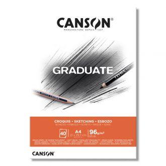 Canson μπλοκ Graduate croquis sketchbook A4 96gr 40φύλλα