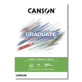 Canson μπλοκ Graduate drawing white  A4 160gr 30φύλλα