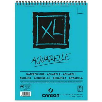 Canson Watercolor Pad Aquarelle A3 Σπιράλ 300g/m2 30 Φύλλων (400104120)