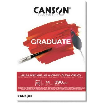 Canson graduate oil & acrylic A4 290gr 20Φύλλα