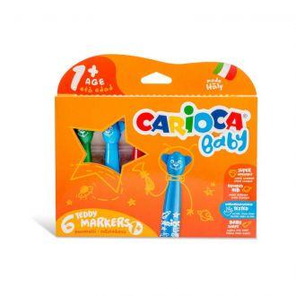 Carioca Baby 1+ μαρκαδόροι σετ 6 χρώματα 42815