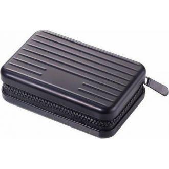 Troika Θήκη επαγγελματικών καρτών aluminium Kartenkoffer Safe  Black CCC04/BK
