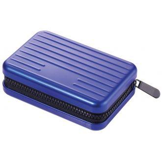 Troika Θήκη επαγγελματικών καρτών aluminium Kartenkoffer Safe Blue CCC04/BL