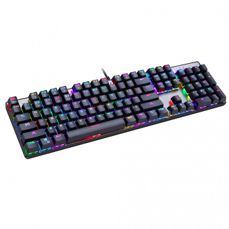Motospeed Πληκτρολόγιο Gaming Inflictor CK104 RGB Mechanical Black with blue switch