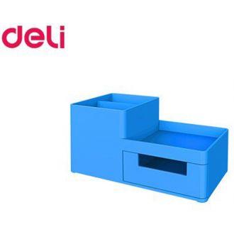 Deli σετ γραφείου πλαστικό 3 θήκες 17,5x9x9.2 Rio μπλε