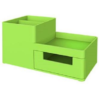 Deli σετ γραφείου πλαστικό 3 θήκες 17,5x9x9.2 Rio Πράσινο
