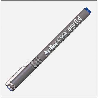 Artline drawing system Μαρκαδόρος σχεδίου 0.4mm Μπλέ (EK-234L)