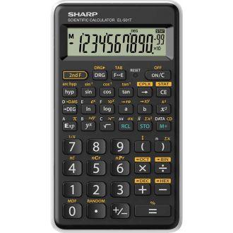 Sharp Επιστημονική αριθμομηχανή 10 ψηφίων 146 λειτουργίες Λευκό EL-501-T-WH