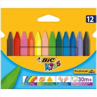 BIC Κηρομπογιές Plastidecor 12 χρώματα 8297732